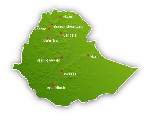 Äthiopienkarte